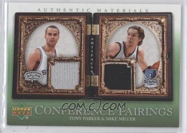 2007-08 Upper Deck Artifacts - Conference Pairings Artifacts - Green #CP-PM - Tony Parker, Mike Miller