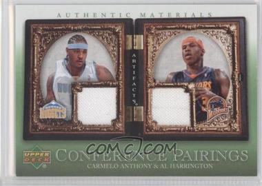 2007-08 Upper Deck Artifacts Conference Pairings Artifacts Green #CP-AH - Carmelo Anthony, Al Harrington