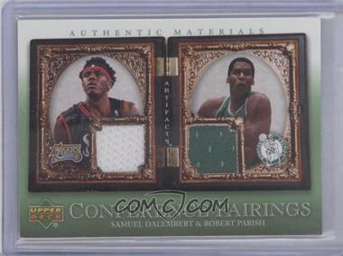 2007-08 Upper Deck Artifacts Conference Pairings Artifacts Green #CP-DP - Samuel Dalembert, Robert Parish