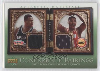 2007-08 Upper Deck Artifacts Conference Pairings Artifacts Green #CP-RO - David Robinson, Hakeem Olajuwon
