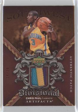 2007-08 Upper Deck Artifacts Divisional Artifacts Red Patch #DA-CP - Chris Paul /50