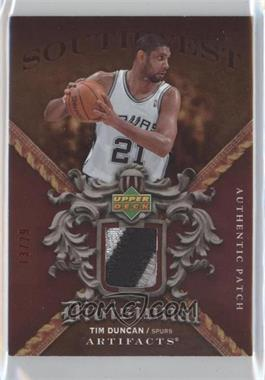 2007-08 Upper Deck Artifacts Divisional Artifacts Red Patch #DA-TD - Tim Duncan /29