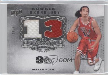 2007-08 Upper Deck Chronology - Stitches in Time Memorabilia - Jersey Number #SIT-JN - Joakim Noah /99