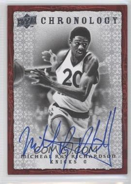 2007-08 Upper Deck Chronology Autographs [Autographed] #70 - Michael Ray Richardson