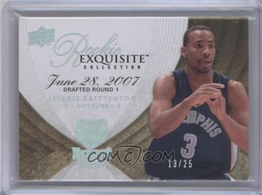 2007-08 Upper Deck Exquisite Collection Gold #68 - Javaris Crittenton /25