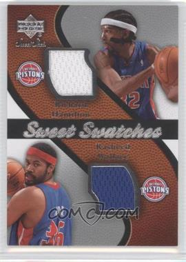 2007-08 Upper Deck Sweet Shot Sweet Swatches Memorabilia #SW-HW - Rasheed Wallace, Richard Hamilton