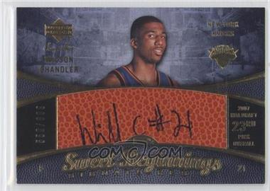 2007-08 Upper Deck Sweet Shot #105 - Sweet Beginnings Signatures - Wilson Chandler /699