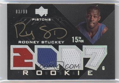 2007-08 Upper Deck UD Black - [Base] #109 - Rodney Stuckey /99