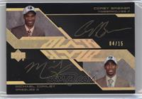 Mike Conley, Corey Brewer /15