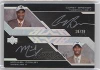 Mike Conley, Corey Brewer /25
