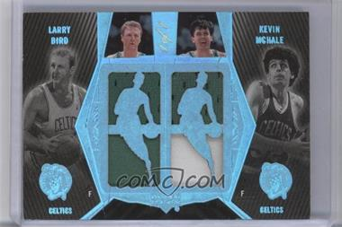 2007-08 Upper Deck UD Black Dual Player - Jersey/Patch White #DP-MB - Kevin McHale, Larry Bird /1