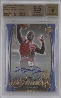 2007 Upper Deck The Finals - [Base] - Autograph [Autographed] #FA-MJ1 - Michael Jordan [BGS9.5]