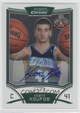 2008-09 Bowman Draft Picks & Stars Chrome #170 - NBA Rookie Card Autograph - Kosta Koufos