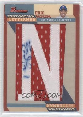 2008-09 Bowman Draft Picks & Stars Destination Letterman Autograph [Autographed] #DAL-EG - Eric Gordon /1