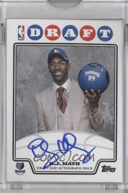 2008-09 Draft Day Autographs #DDAOJM - O.J. Mayo /100