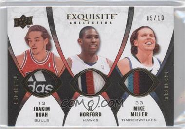2008-09 Exquisite Collection - Trios #TP-MNH - Joakim Noah, Al Horford, Mike Miller /10