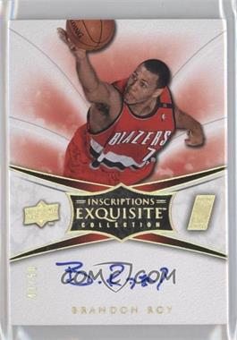 2008-09 Exquisite Collection Inscriptions #SCRIPT-BR - Brandon Roy /50