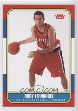 2008-09 Fleer - 1986-87 Retro Rookies #86R-192 - Rudy Fernandez