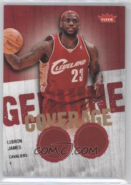 2008-09 Fleer - Genuine Coverage Memorabilia #GC-LJ - Lebron James
