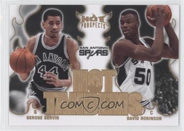 2008-09 Fleer Hot Prospects Hot Tandems #HT-17 - George Gervin, David Robinson