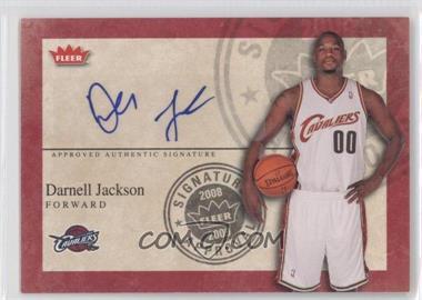 2008-09 Fleer Signature Approval [Autographed] #SA-DJ - Darnell Jackson
