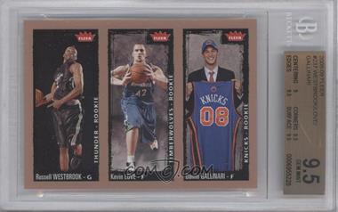 2008-09 Fleer #237 - Russell Westbrook, Kevin Love, Danilo Gallinari [BGS9.5]