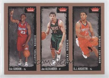 2008-09 Fleer #238 - Eric Gordon, Joe Alexander, D. J. Augustin