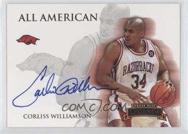 2008-09 Press Pass Legends - All American - Autograph [Autographed] #AA-CW - Corliss Williamson /165