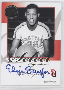 2008-09 Press Pass Legends - Select Signatures #SS-EB.1 - Elgin Baylor (Blue Ink)
