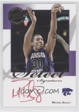 2008-09 Press Pass Legends - Select Signatures #SS-MB.2 - Michael Beasley (Red Ink)