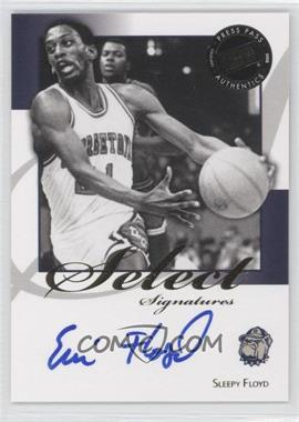 2008-09 Press Pass Legends - Select Signatures #SS-SF.1 - Sleepy Floyd (Blue Ink)