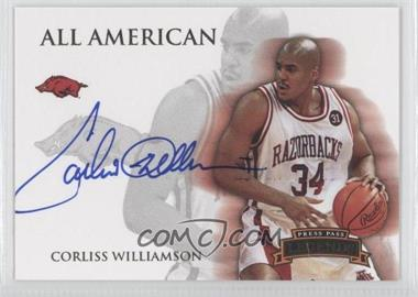 2008-09 Press Pass Legends All American Autograph [Autographed] #AA-CW - Corliss Williamson /165