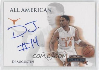 2008-09 Press Pass Legends All American Platinum Autograph [Autographed] #AA-DA - D.J. Augustin /25