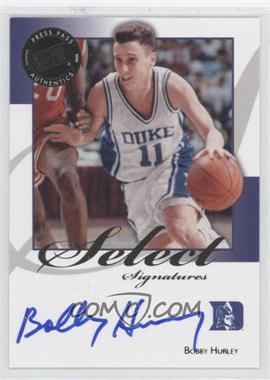 2008-09 Press Pass Legends Select Signatures #SS-BH.1 - Bobby Hurley (Blue Ink)