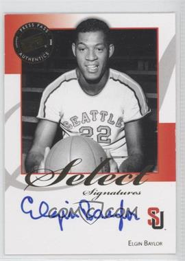 2008-09 Press Pass Legends Select Signatures #SS-EB.1 - Elgin Baylor (Blue Ink)