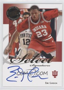 2008-09 Press Pass Legends Select Signatures #SS-EG.1 - Eric Gordon (Blue Ink)