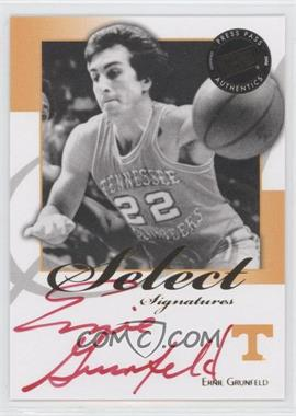 2008-09 Press Pass Legends Select Signatures #SS-EG2.2 - Ernie Grunfeld (Red Ink)