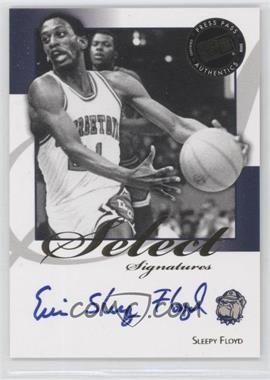 2008-09 Press Pass Legends Select Signatures #SS-SF.1 - Sleepy Floyd (Blue Ink)