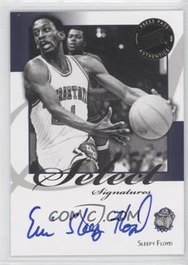 2008-09 Press Pass Legends Select Signatures #SS-SF.3 - Sleepy Floyd (Blue Ink Inscription)