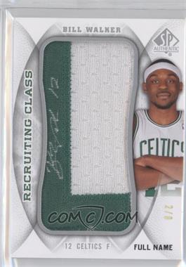 2008-09 SP Authentic - Recruiting Class Manufactured Letter Patch - Full Name Autograph [Autographed] #RCN-BW - Bill Walker /8