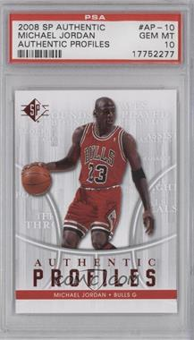 2008-09 SP Authentic Profiles Retail [122916] #AP-10 - Michael Jordan [PSA 10]