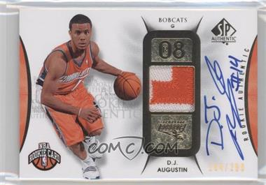 2008-09 SP Authentic #105 - D.J. Augustin /299