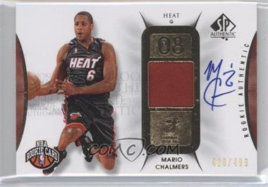 2008-09 SP Authentic #108 - Mario Chalmers /499