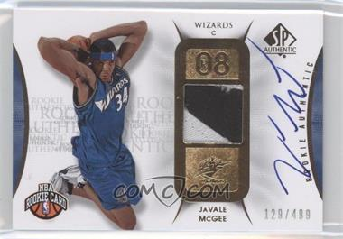 2008-09 SP Authentic #128 - JaVale McGee /499