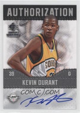 2008-09 SP Rookie Threads - Authorization #AU-KD - Kevin Durant