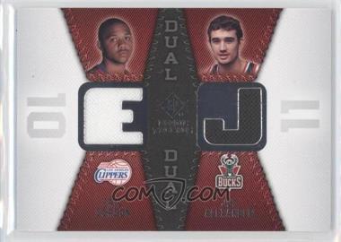 2008-09 SP Rookie Threads - Rookie Threads Dual #RTD-GA - Joe Alexander, Eric Gordon