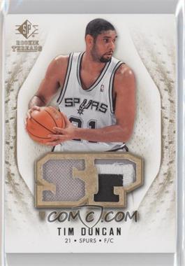 2008-09 SP Rookie Threads - SP Threads - Jersey/Patch #T-TD - Tim Duncan