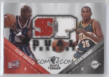 2008-09 SP Rookie Threads - SP Threads Dual #TD-DD - Kevin Durant, Clyde Drexler