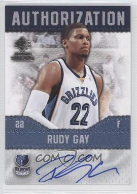 2008-09 SP Rookie Threads Authorization #AU-RG - Rudy Gay