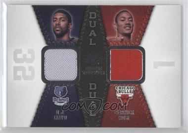 2008-09 SP Rookie Threads Rookie Threads Dual #RTD-MR - O.J. Mayo, Derrick Rose